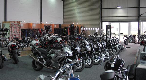 Motorrad Ressler Ausstellungshalle (Teilansicht)
