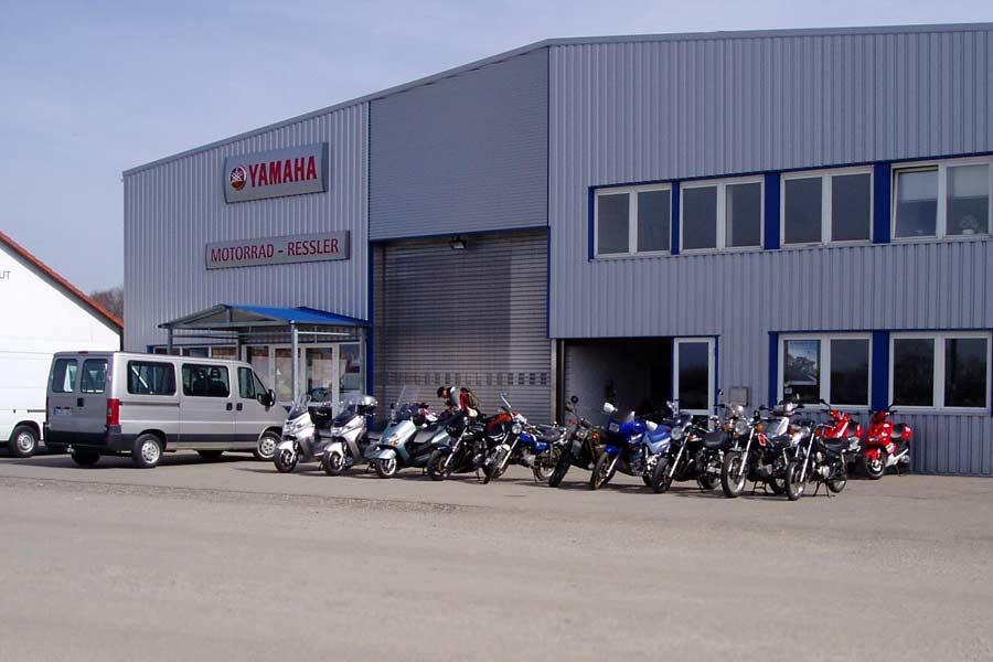 Motorrad Ressler Memmingerberg (Außenansicht)