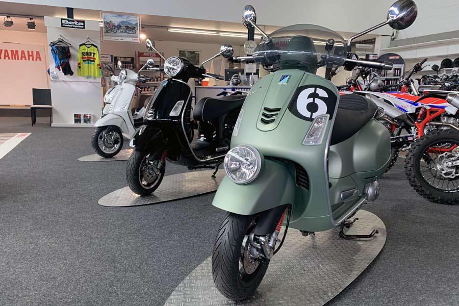 Vespa Roller bei Motorrad Ressler in Memmingerberg